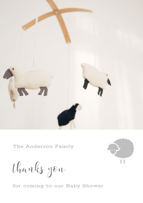 White and Black Thank You Card Thank You Card