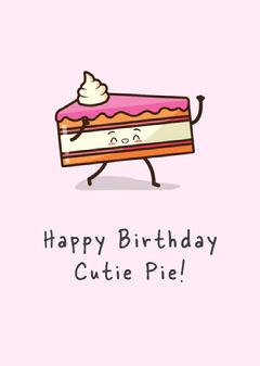 Happy birthday cutie pie Cakes