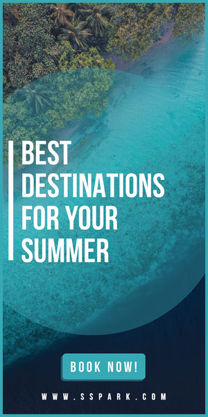 BEST DESTINATIONS FOR YOUR SUMMER Advertisement Flyer