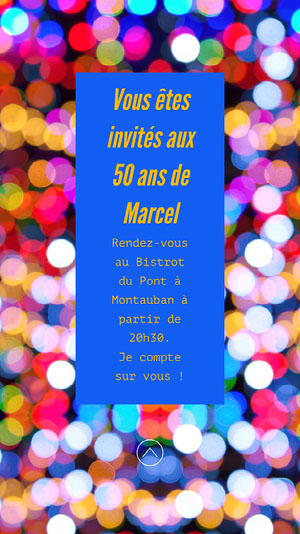 Glitter Lights Marcels 50th Birthday Invite Instagram Story  Invitation à une fête