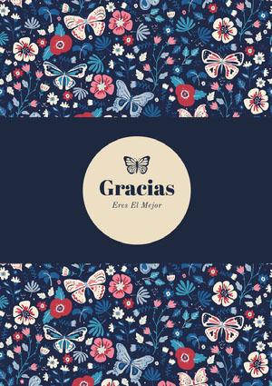 blue butterfly patterned thank you cards  Tarjeta de agradecimiento