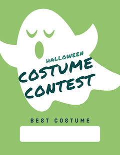Ghost Trick Or Treat Halloween Party Costume Card Halloween Costume Contest