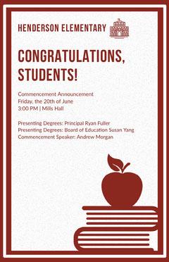 CONGRATULATIONS,<BR>STUDENTS!  Graduation Congratulation