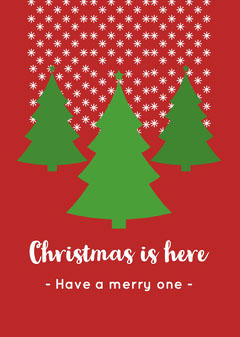 Christmas trees card Christmas
