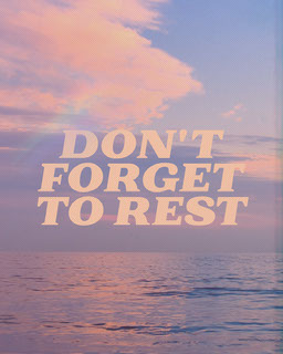 Pink and Blue Sky Ambient Calming Quote