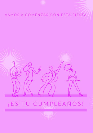 let's get this party started birthday cards  Tarjeta de cumpleaños
