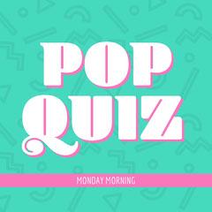 Green & White Pop Quiz Instagram Square Quiz Night Poster