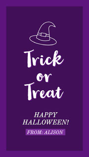 Halloween Trick Or Treat Party Gift Tag Halloween Party
