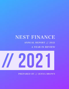 Violet and White Annual Report Finance