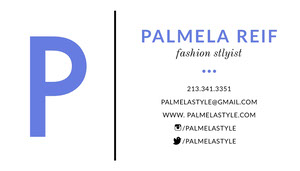 Blue Fashion Stylist Business Card Tarjeta de visita