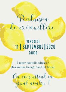 Yellow Lemons Housewarming Party Invitation Card   Invitation
