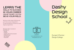 dash design school trifold brochure  Educational Course