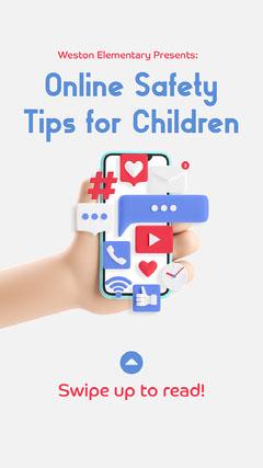Online Safety Tips Instagram Story Kids
