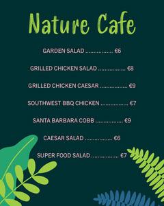 Green Nature Cafe Instagram Portrait Menu Cafe