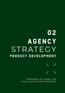 Green and White Agency Strategy Proposal Offerta