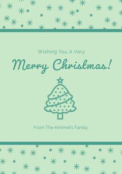 Green Merry Christmas Card Christmas