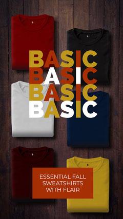Basic Essential Fall Sweatshirt Business Social Sale Promotion Shopping