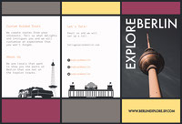Purple, Grey and Yellow, Berlin Explore Travel Brochure Brochure