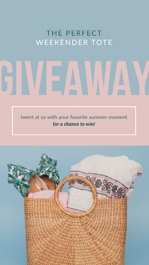 Blue and Pink Giveaway Instagram Story Instagram Giveaway