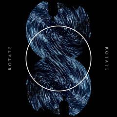 Blue and Black Circles Album Cover Sky