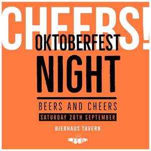 Orange Typography Oktoberfest Instagram Square Oktoberfest Invitation Templates