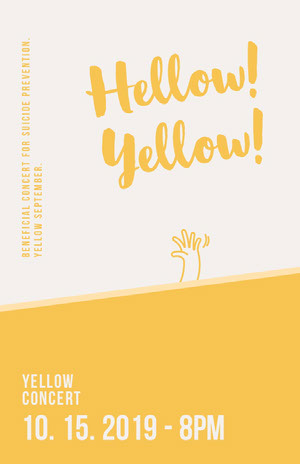 Hellow!<BR>Yellow! Concert Poster