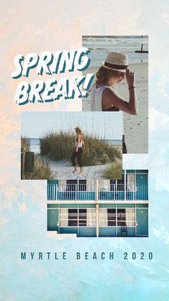 spring break Instagram story Beach