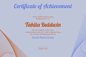 Blue Media Shapes Internship Certificate Certificate