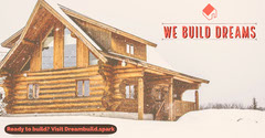 Lob Cabin Building Construction Company Facebook Post Ad  Construction