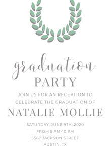 graduation  Convite