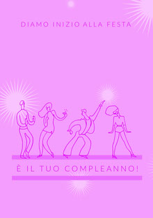 let's get this part started birthday cards Biglietto di compleanno