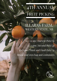 4th Annual Fruit Picking Business Flyer