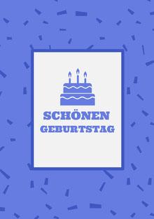 purple birthday cards  Geburtstagskarte