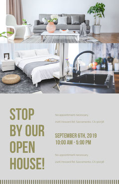 Real Estate Agency Open House Flyer with Collage Agency