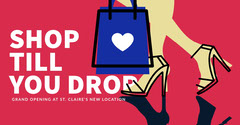 SHOP<BR>TILL<BR>YOU DROP Grand Opening Flyer