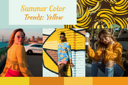 Yellow Summer Fashion Mood Board Colagem de fotos