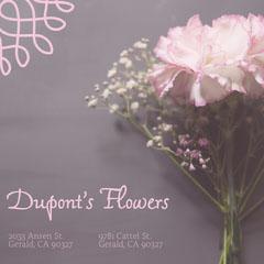 Pink Flower Shop Square Instagram Ad Garden