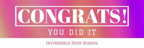 Pink & Purple Gradient Background Congrats Banner Graduation Banner