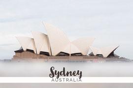 White Sydney Australia Postcard Postkort