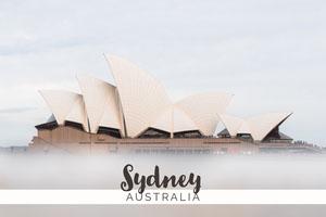 White Sydney Australia Postcard Ansichtkaart