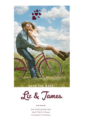 Liz & James  Save the date-kort