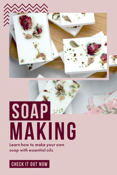Pink and White, Soap Making Tips, Pinterest Post Cosmetic