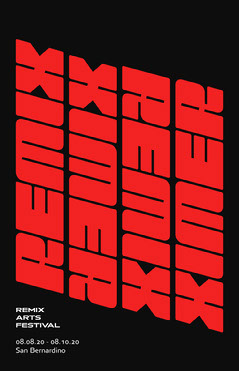 remix festival poster Typography