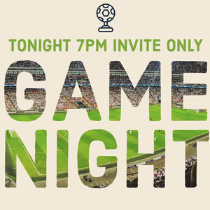 White and Green Game Night Banner Banner