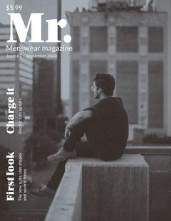 Grey and WHite Menswear Magazine Cover Fashion Magazines Cover