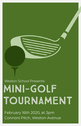 Green Illustrated Mini Golf Tournament Flyer Veranstaltungs-Flyer