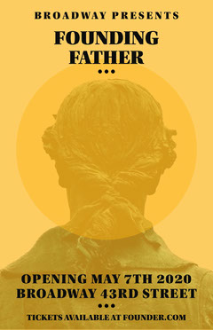 Yellow Statue Founding Father Theater Play Poster Play Poster