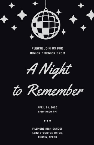 A Night to Remember  Prom Posters