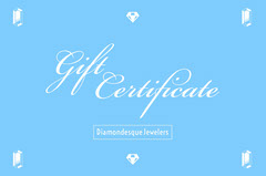 Blue and WHite Gift Certificate Gift Card
