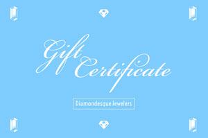 Blue and WHite Gift Certificate Buono regalo